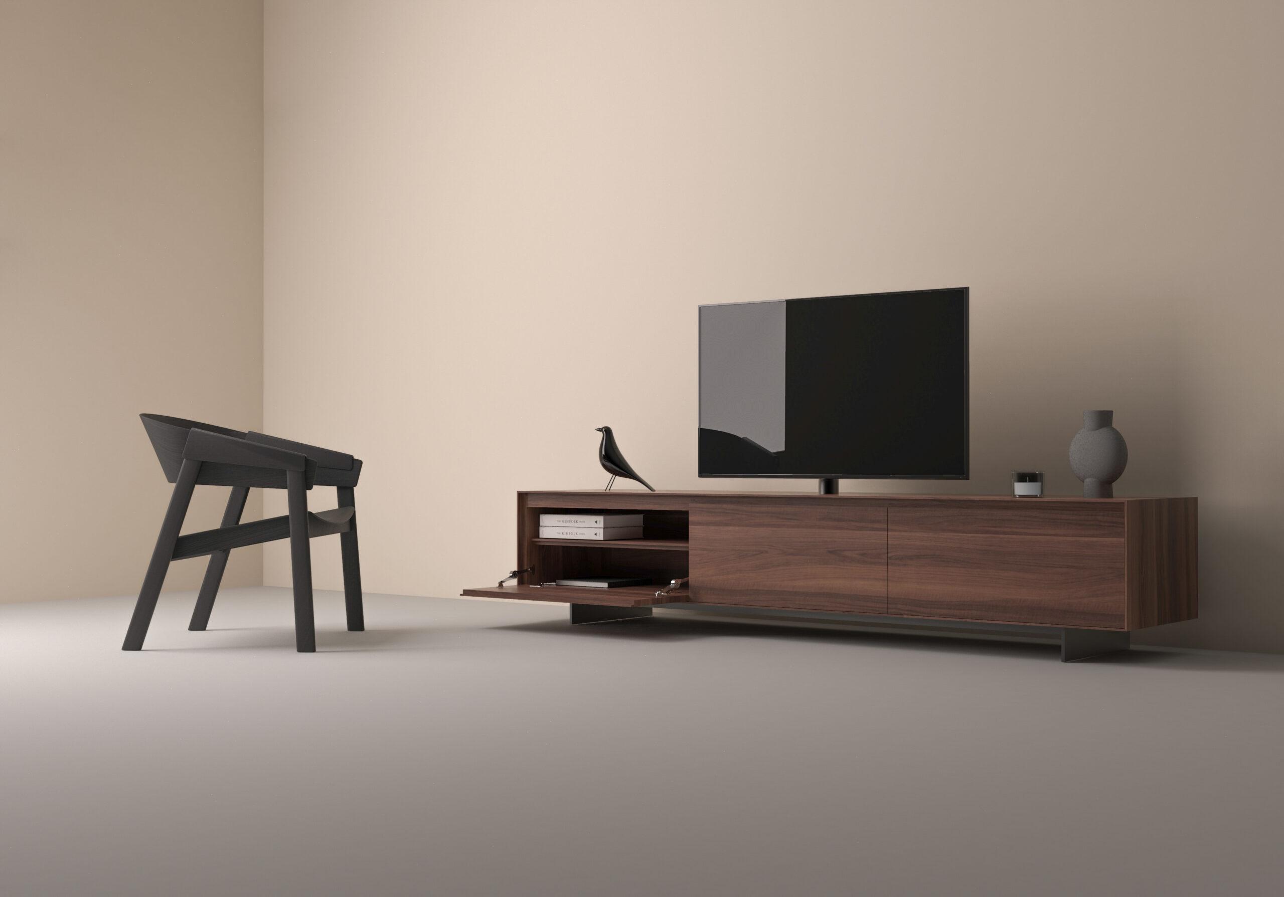 Desio TV-dressoir Notenhout
